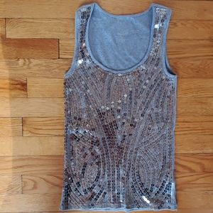 Michael Michael kors silver sequined tank top